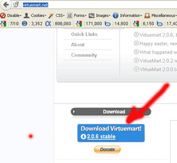 ดาวน์โหลด Vituremart เพื่อติดตั้งบน Joomla 2.5