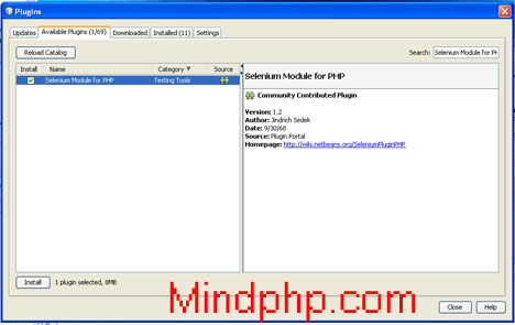 Install Selenium Module for PHP